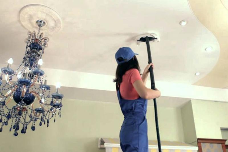 отмыть потолок